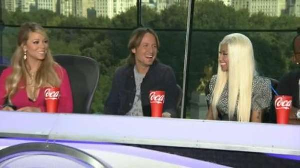 """American Idol"" judges Mariah Carey, Keith Urban and"