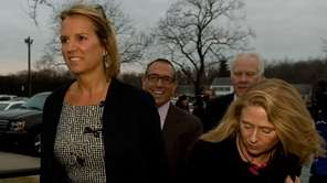 Kerry Kennedy enters North Castle Town Court. An