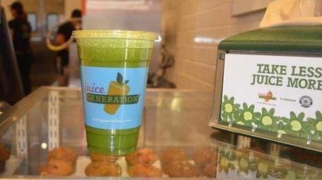 A 12-oz Supa Dupa Greens from Juice Generation