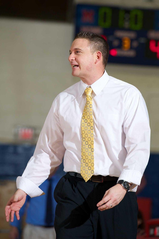 Baldwin coach Tom Catapano pleads with the referee