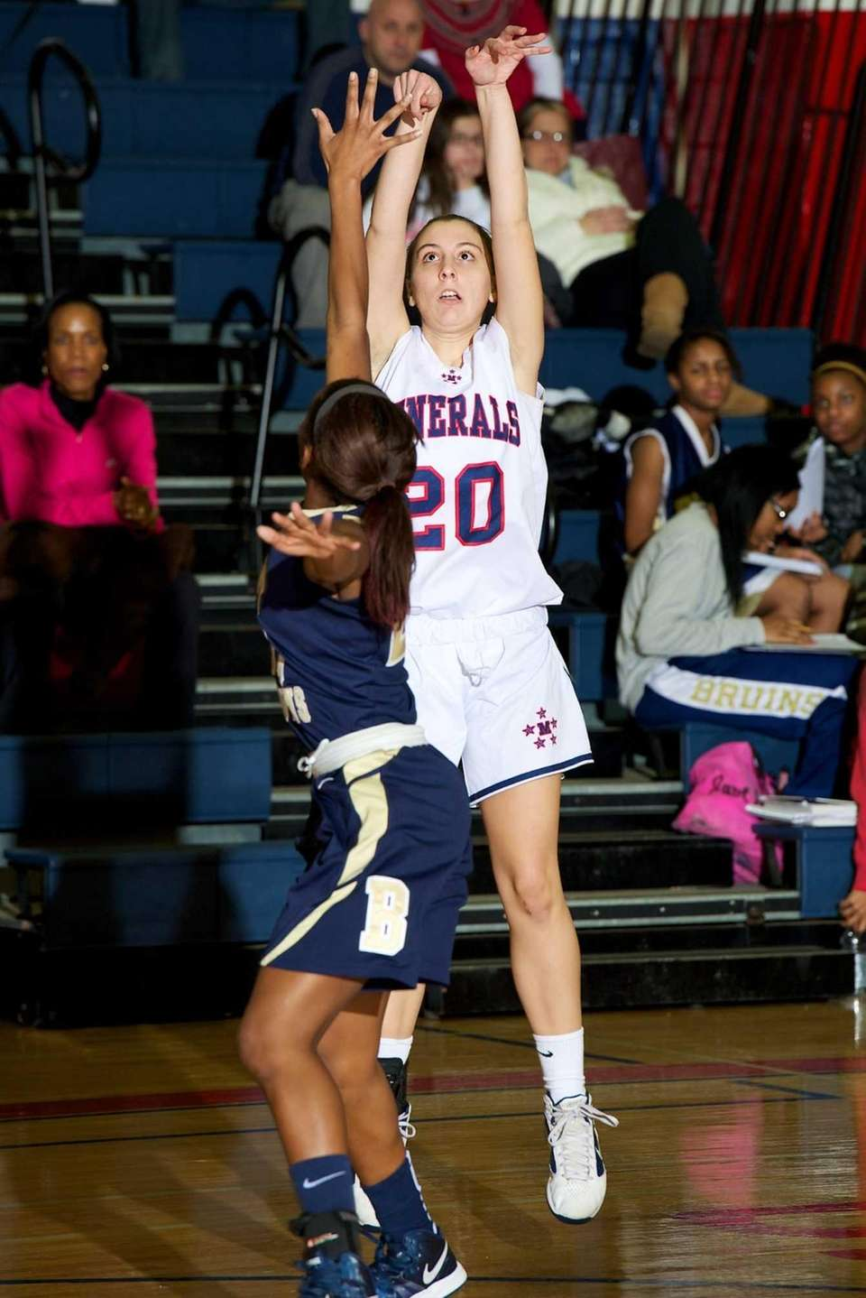MacArthur junior Jen Gubell takes a jump shot