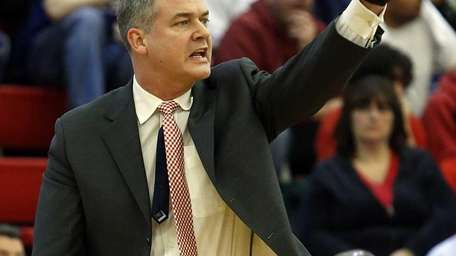 Stony Brook men's basketball head coach Steve Pikiell