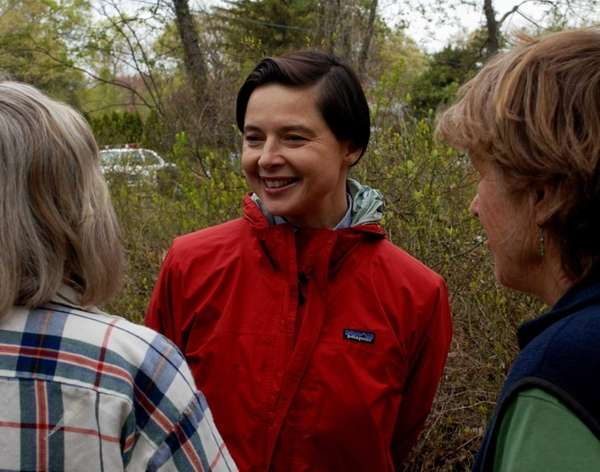 Actress Isabella Rossellini chats with some local environmentalist