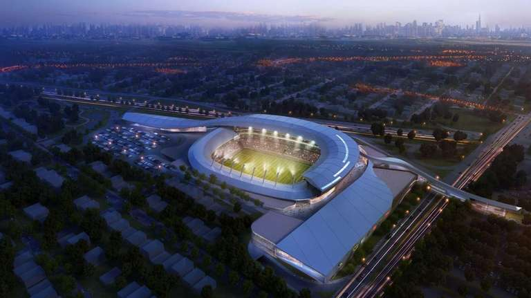 This is an illustration of the 25,000-seat stadium