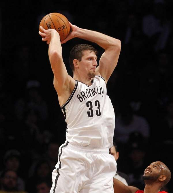 Mirza Teletovic controls the ball during a game