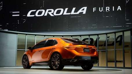 Toyota's Corolla Furia concept vehicle is displayed after