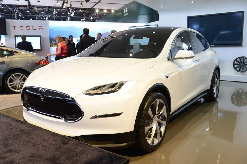 The Tesla Model X makes its debut at
