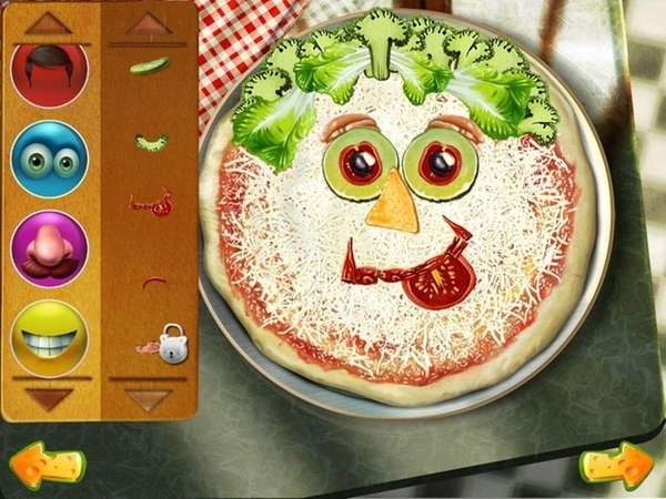 The Pizza Crazy Chef app lets kids create