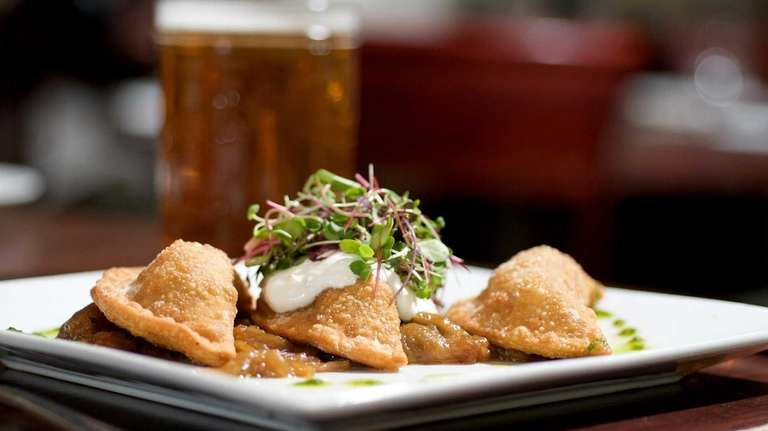 Pierogies can be heavy, but PeraBell's, served atop