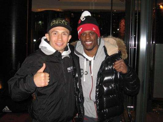 "WBA/IBO Middleweight World Champion Gennady ""GGG"" Golovkin, left,"