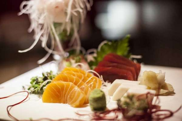 Ruby Asian Fusion serves a sashimi sampler plate.