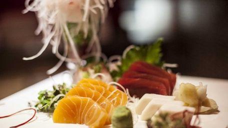 Ruby Asian Fusion serves a sashimi sampler plate.