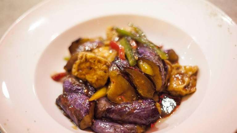 Ruby's Asian Fusion's lovely vegetarian stir-fry of eggplant