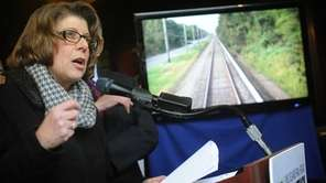 Long Island Rail Road President Helena Williams speaks