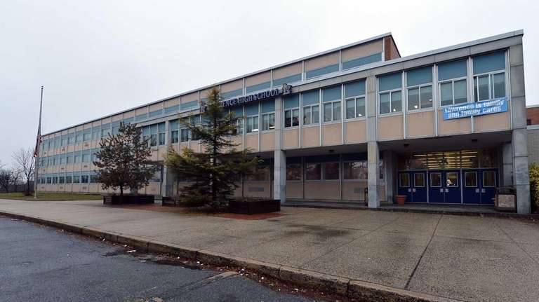 An exterior view of Lawrence High School. (Jan.