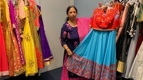 Poonam Jain, 59, owns Vastra Indian boutique in