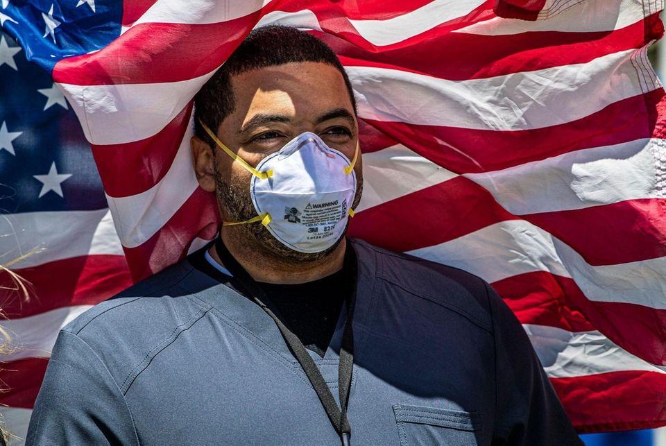 Derrick Washington, a nurse at Nassau University Medical