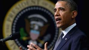 U.S. President Barack Obama announces his administration's new