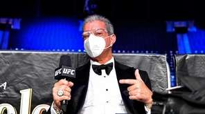 UFC Octagon announcer Bruce Buffer poses prior to