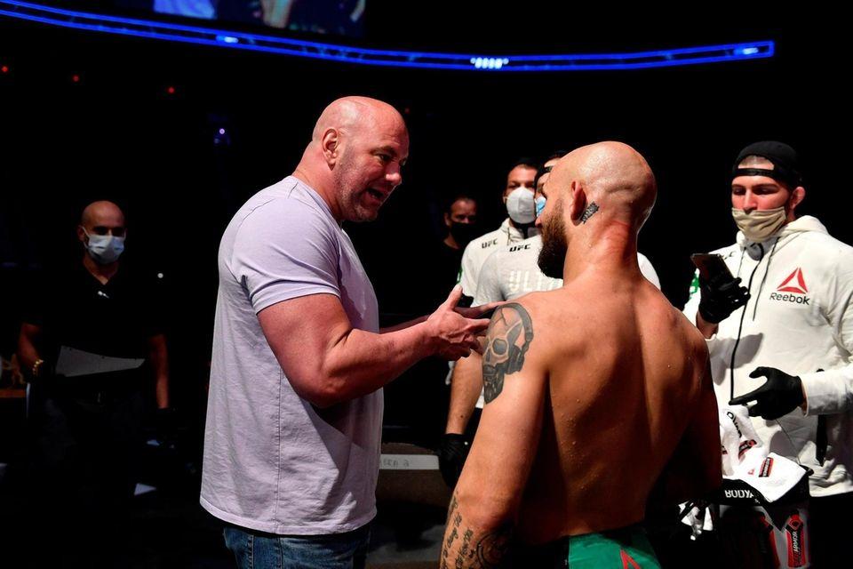 JACKSONVILLE, FLORIDA - MAY 13: UFC president Dana