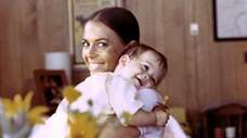 Natalie Wood and daughter, Natasha, at their home