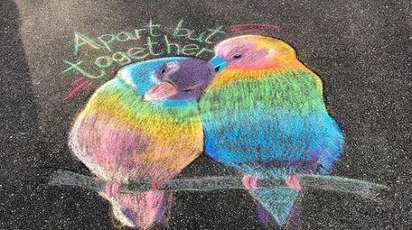Meredith Samuelson, 41, drew love birds on her