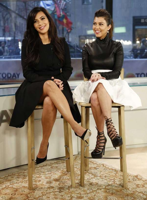 Kim Kardashian and Kourtney Kardashian appear on NBC