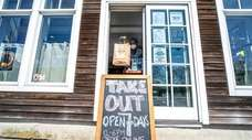 The take-out window at Green Hill Kitchen in