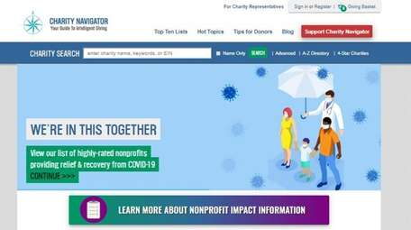 Charity Navigator's website — www.charitynavigator.org — is one