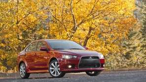The 2013 Mitsubishi Lancer GT is pictured.
