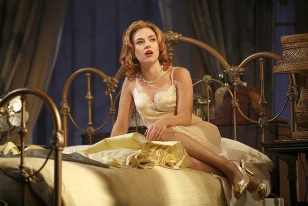 Scarlett Johansson during a performance of