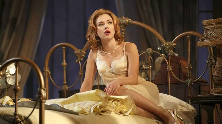 Scarlett Johansson during a performance of