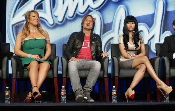 """American Idol"" judges, from left, Mariah Carey, Keith"