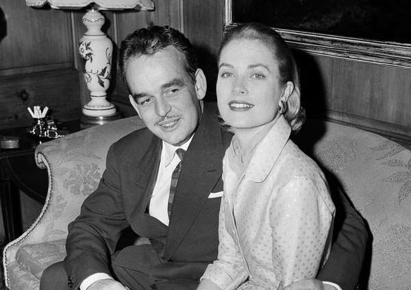 Grace Kelly with Prince Rainier III of Monaco