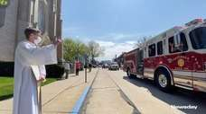 A parade was held to thank first responders