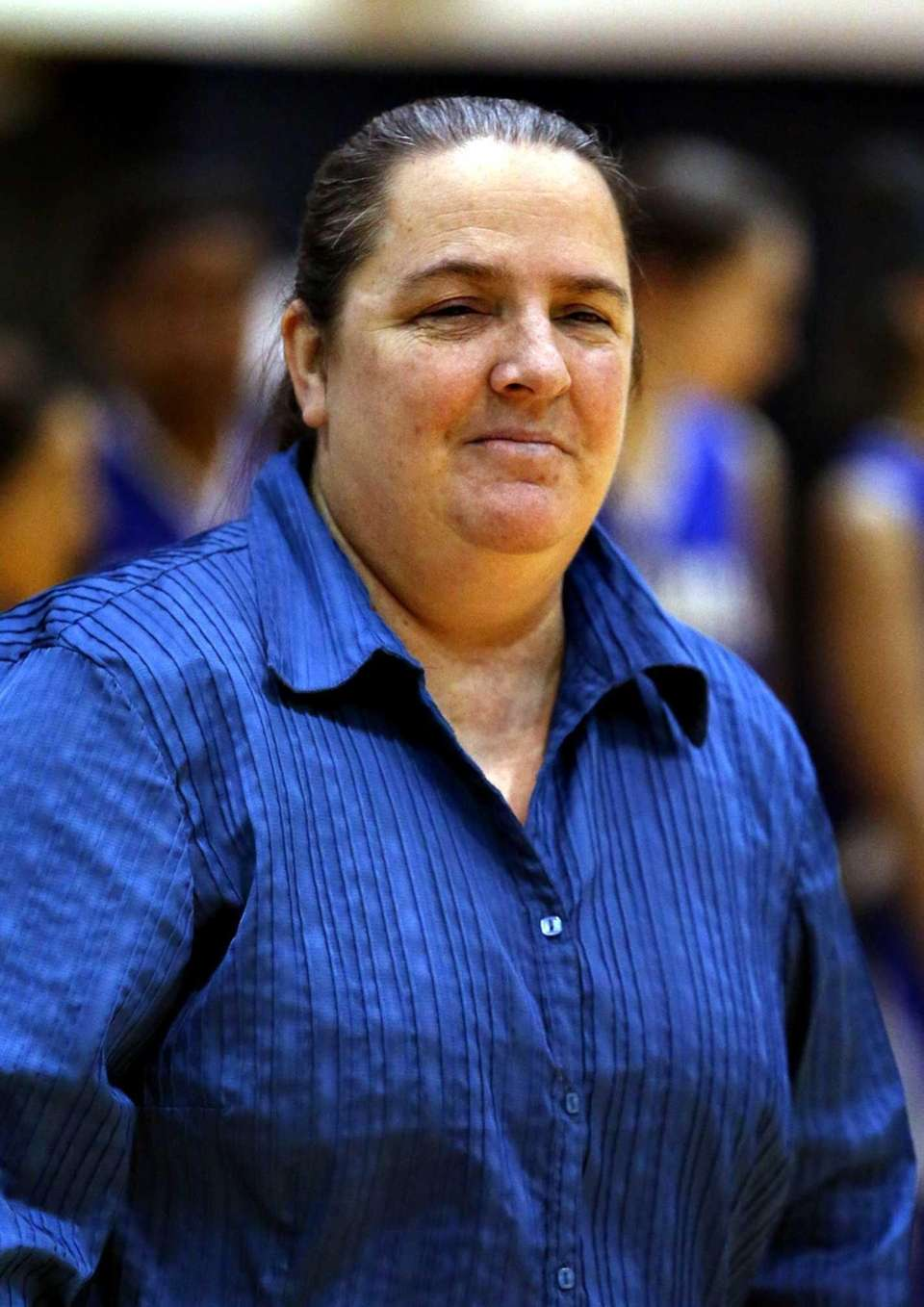 North Babylon girls basketball head coach Debbie Brajevich