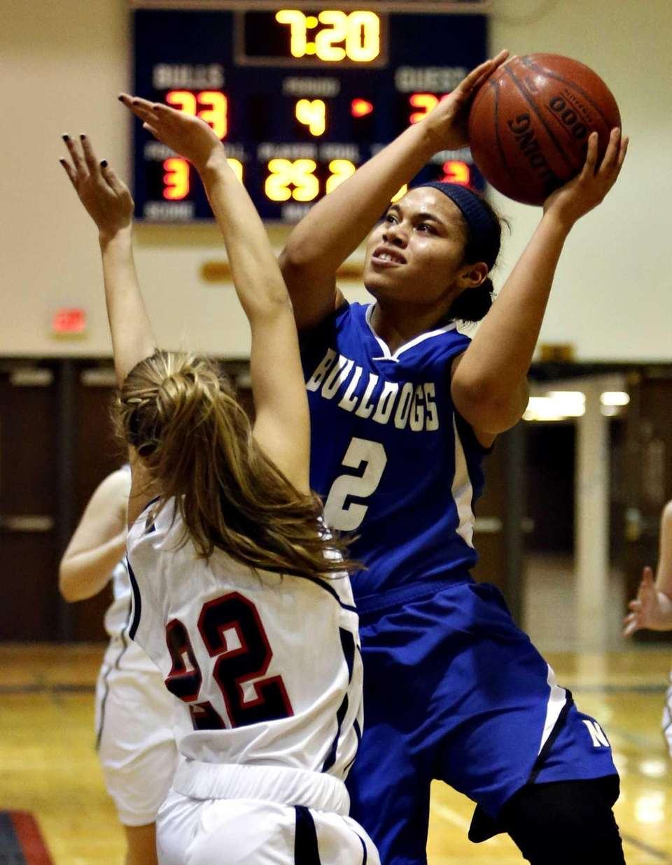 North Babylon's Brianna Jones puts up a layup