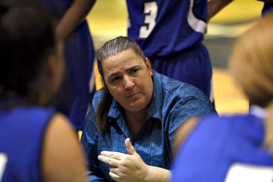 North Babylon girls basketball coach Debbie Brajevich talks