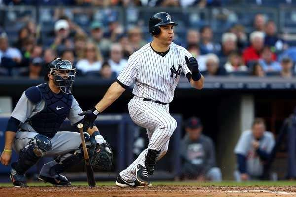 Mark Teixeira #25 of the New York