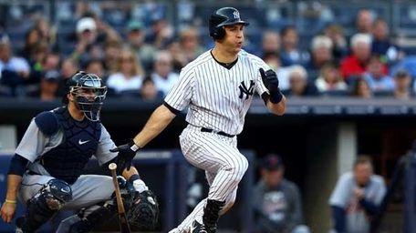 Mark Teixeira #25 of the New York
