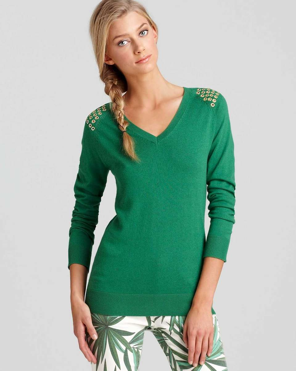 MICHAEL Michael Kors ' cotton-blend sweater with shoulder