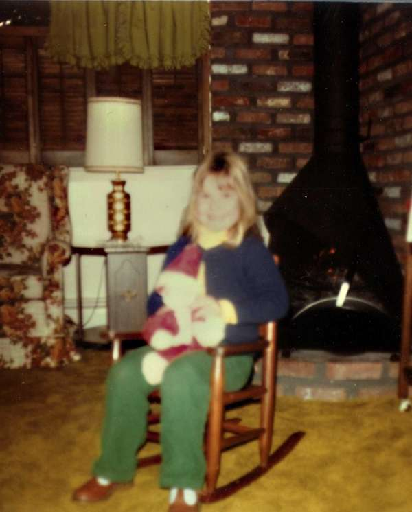 The writer's daughter, Beth, in 1979 in their