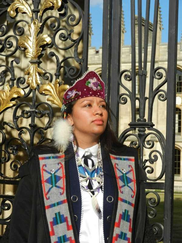 Kelsey Leonard, the first American Indian female graduate