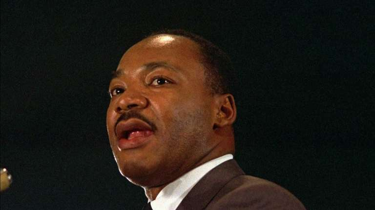 The Rev. Dr. Martin Luther King Jr. speaks