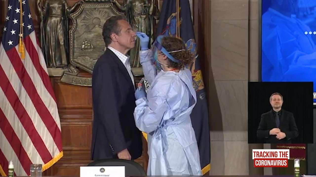 Governor Andrew M. Cuomo, at his daily news