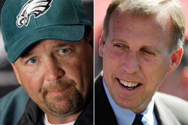 The Jets have hired Marty Mornhinweg, left, as