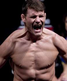 Michael Bisping at weigh-ins for UFC, in Sao