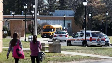 Police respond to Hewlett High School for a