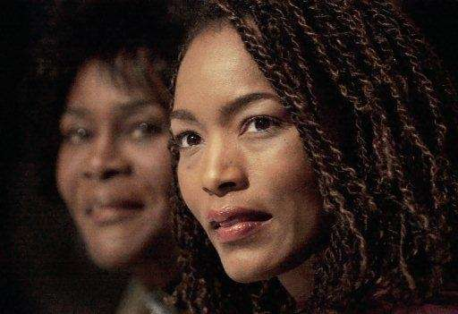From left, Cicely Tyson and Angela Bassett listen