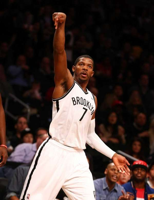 Joe Johnson follows through on a shot against
